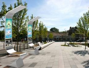 Recreation area solar chair