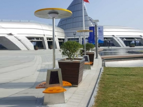 Ningbo Port Museum Solar Smart Lounge Chair