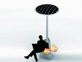 Solar charging chair