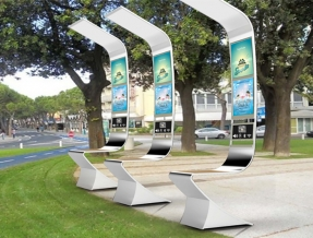 Solar public bench
